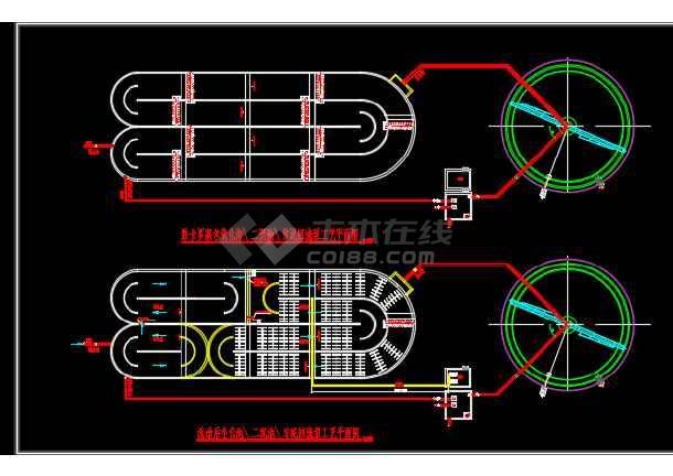 某地厂区氧化沟改造工艺CAD设计图纸-图3