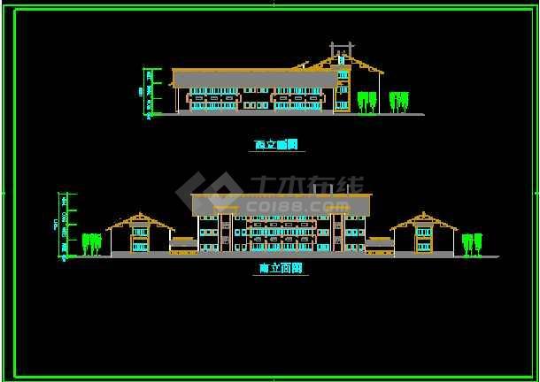 某园林会所施工装修CAD平面设计图-图3