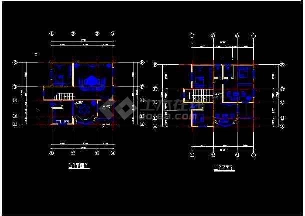 某市区12个别墅CAD设计方案图纸-图1