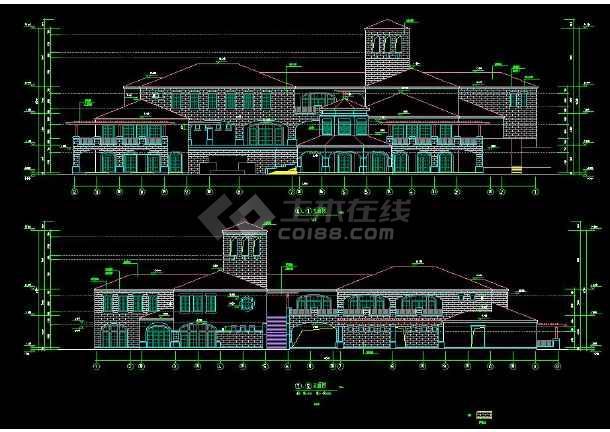 某高档会所建筑方案设计CAD详细施工图-图2