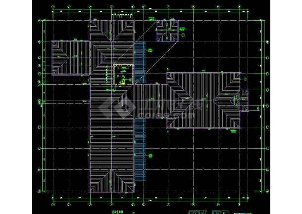 某高档会所建筑方案设计CAD详细施工图-图3