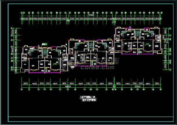 某城市一住宅楼的CAD建筑扩出图纸-图3