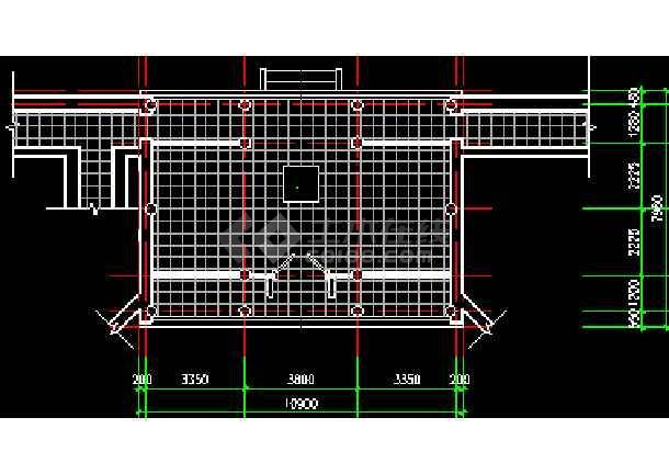 某地大殿平立剖面设计施工CAD图-图2