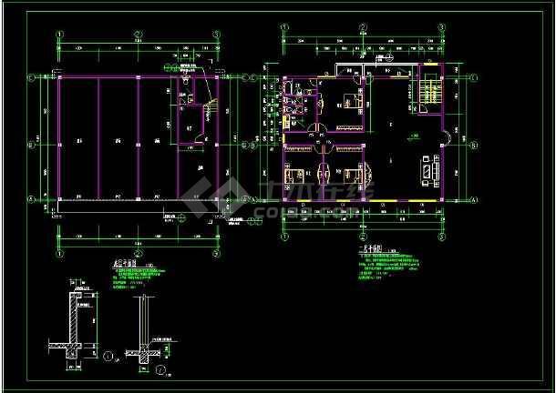 某小区多层住宅楼建筑方案设计CAD图(含设计说明)-图3
