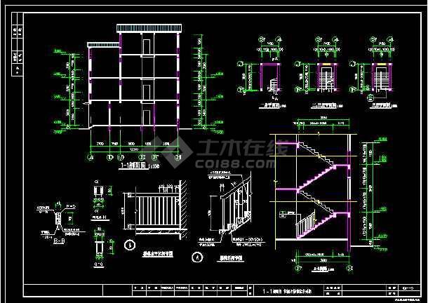 某城市精致独立式别墅CAD设计施工图-图2