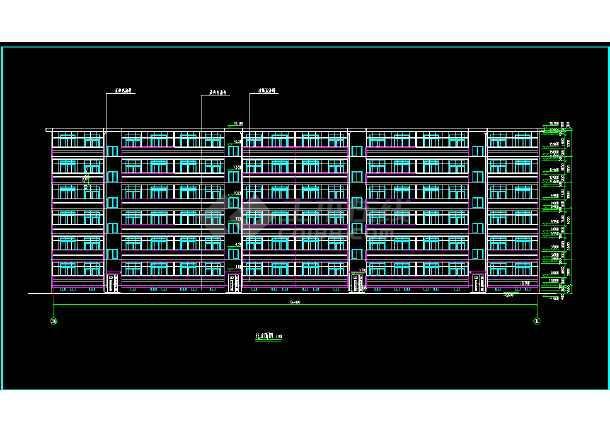 某地一处住宅建筑的CAD施工图纸-图3