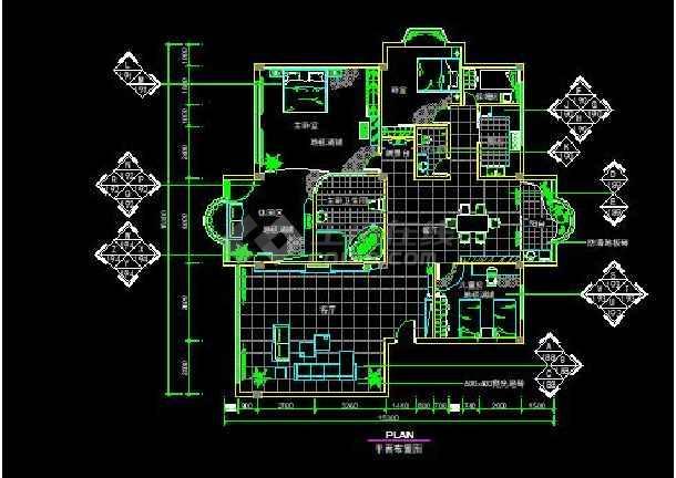 F户型欧式经典全套装修设计施工CAD图-图1