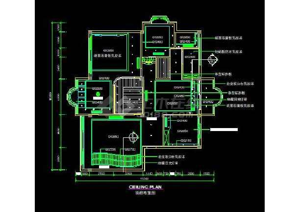 F户型欧式经典全套装修设计施工CAD图-图2