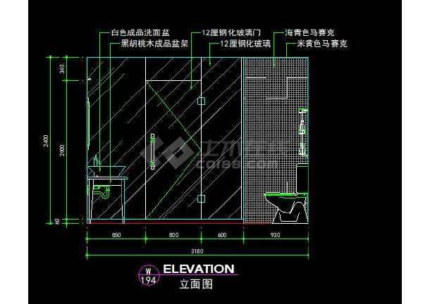 F户型欧式经典全套装修设计施工CAD图-图3