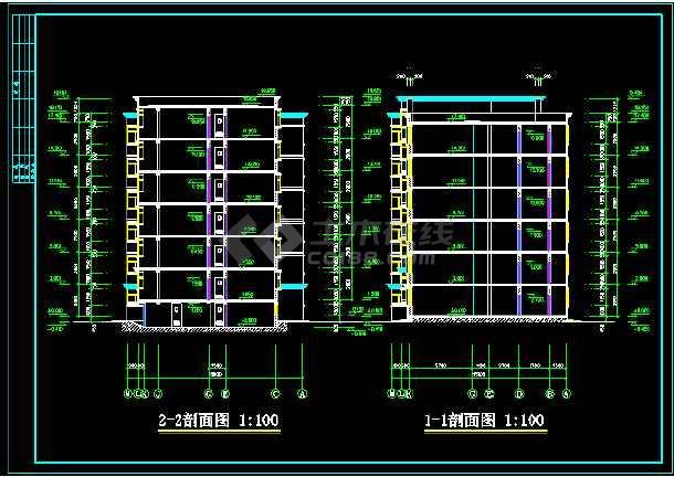 某地一处住宅建筑的CAD设计图纸-图3