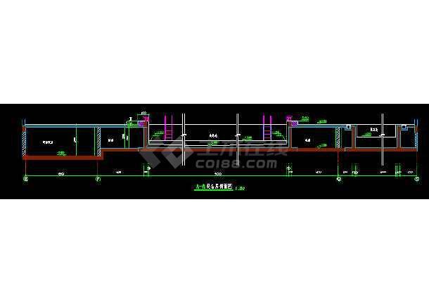 北京某游泳池节点建筑cad设计装修图-图1