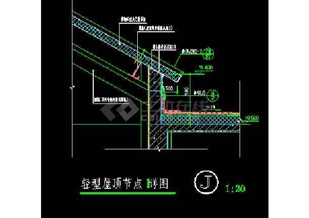 北京某游泳池节点建筑cad设计装修图-图2