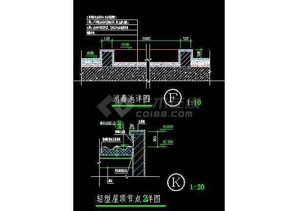 北京某游泳池节点建筑cad设计装修图-图3