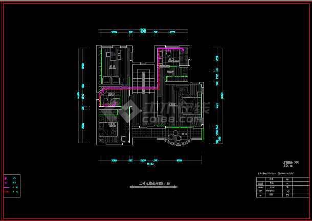 现代二层别墅建筑cad施工设计图-图1