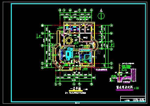 某农民小康楼经典建筑CAD设计图-图1