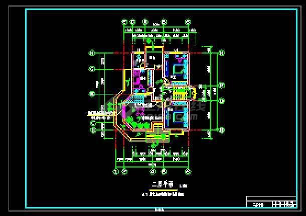 某农民小康楼经典建筑CAD设计图-图2