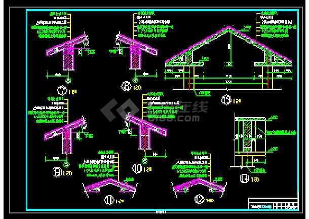 某农民小康楼经典建筑CAD设计图-图3