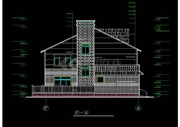某城市精美荷兰式别墅小区CAD设计图-图1