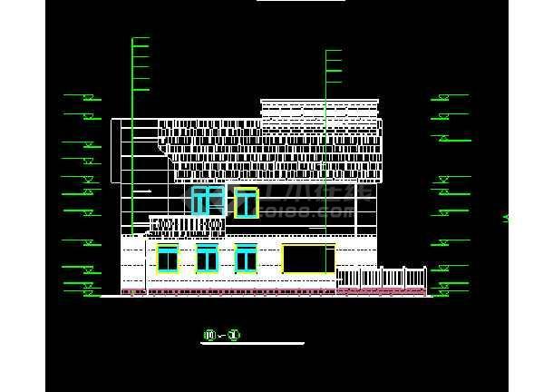 某城市精美荷兰式别墅小区CAD设计图-图3