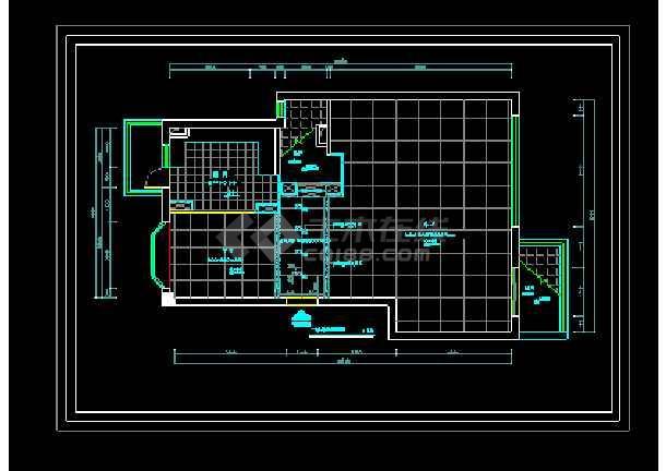 经典别墅建筑室内装修全套cad施工设计图-图2
