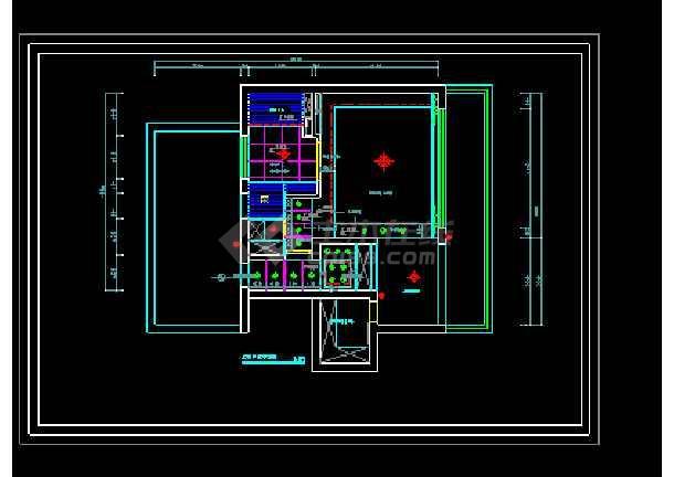 经典别墅建筑室内装修全套cad施工设计图-图3