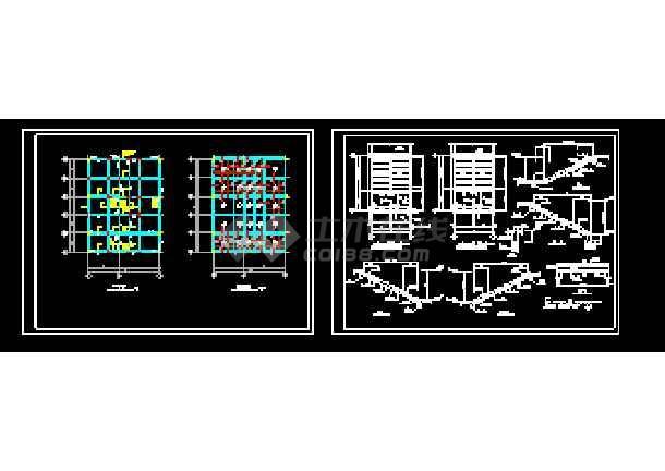 经典一整套综合楼cad施工设计图-图1