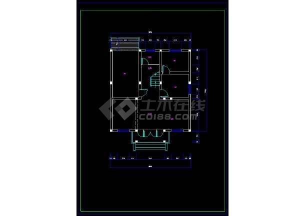 某地乡村别墅室内装修方案设计CAD施工图-图1