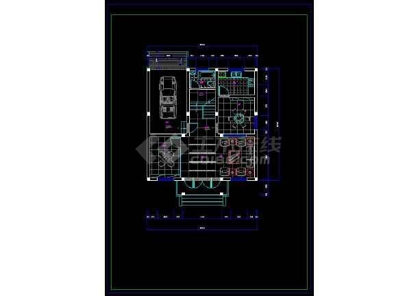 某地乡村别墅室内装修方案设计CAD施工图-图2