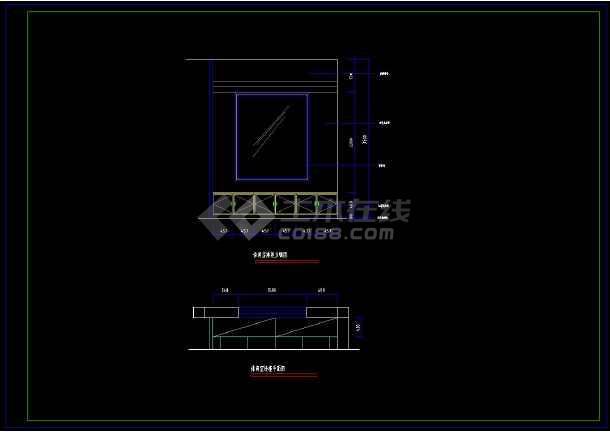 某地乡村别墅室内装修方案设计CAD施工图-图3