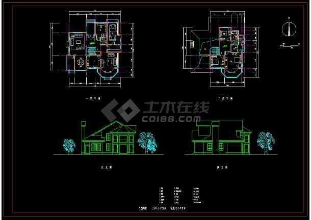 某地新农村住宅别墅建筑设计方案CAD图集-图1