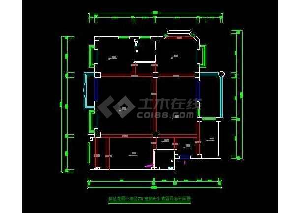 信达花园小高层701装修设计施工图-图2