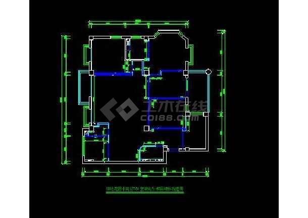 信达花园小高层701装修设计施工图-图3