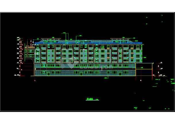 某市区一套完整的住宅CAD施工图-图1