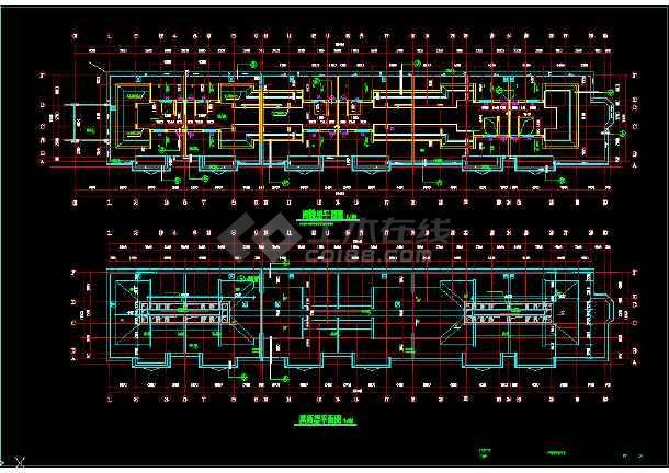 某市区一套完整的住宅CAD施工图-图2