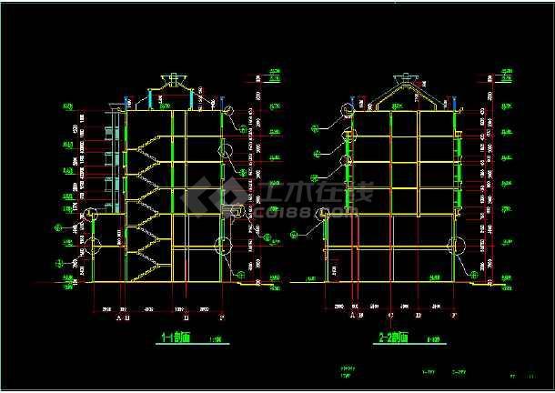 某市区一套完整的住宅CAD施工图-图3