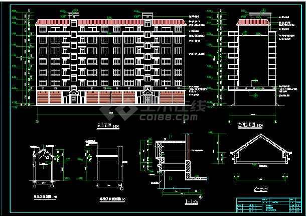 某一住宅楼的建筑、结构CAD施工图-图2