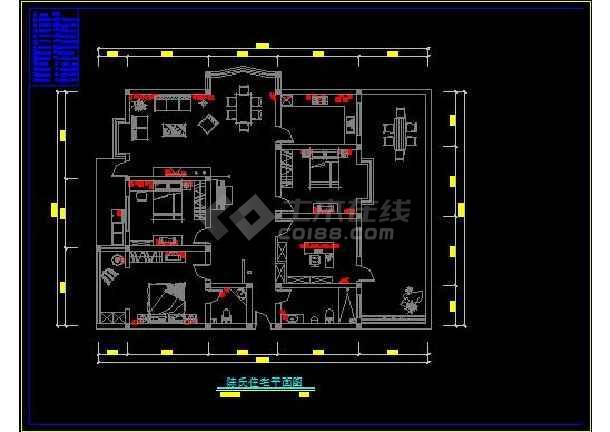 陈氏住宅家庭装修设计方案CAD图-图1