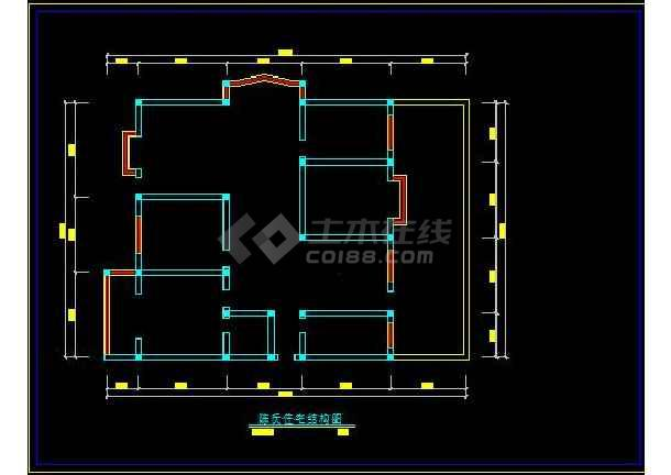 陈氏住宅家庭装修设计方案CAD图-图3