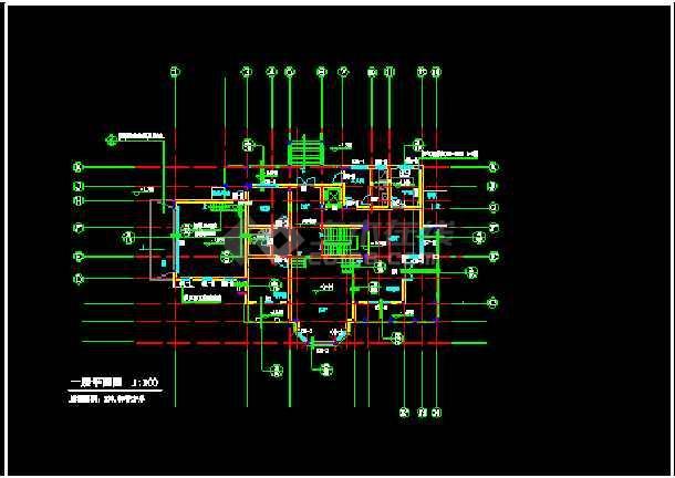 某小区高档别墅全套CAD设计建筑图纸-图1