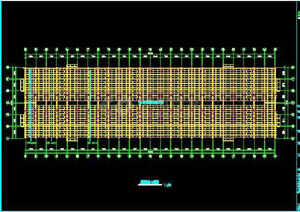 某公司厂房工程结构建筑CAD施工设计图纸-图1