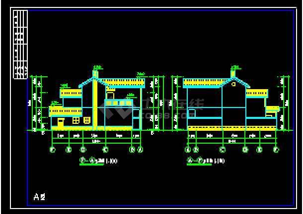 某农村别墅经典建筑CAD设计施工图-图1