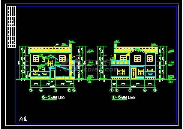 某农村别墅经典建筑CAD设计施工图-图2
