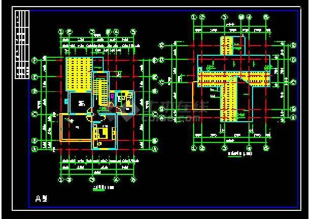 某农村别墅经典建筑CAD设计施工图-图3