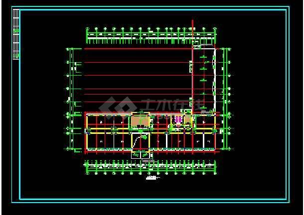 经典综合办公楼建筑设计cad施工图-图1