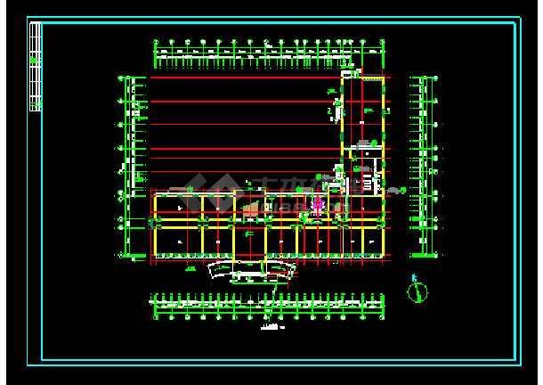 经典综合办公楼建筑设计cad施工图-图2
