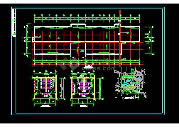 经典综合办公楼建筑设计cad施工图-图3
