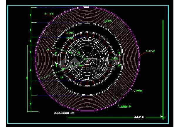 雕塑、休闲、城市广场建筑施工设计CAD大样图-图2
