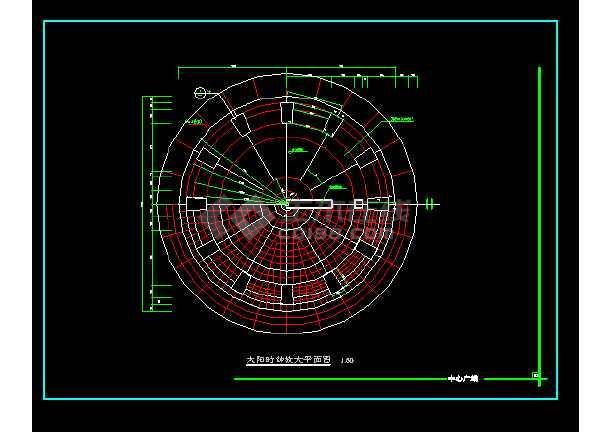 雕塑、休闲、城市广场建筑施工设计CAD大样图-图3