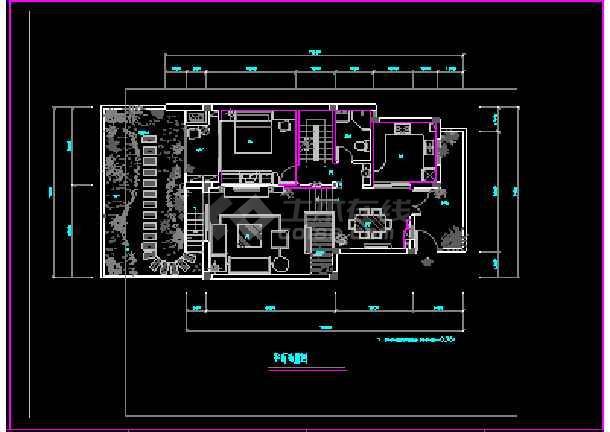 宁波雅致现代三层别墅cad室内装修图-图1