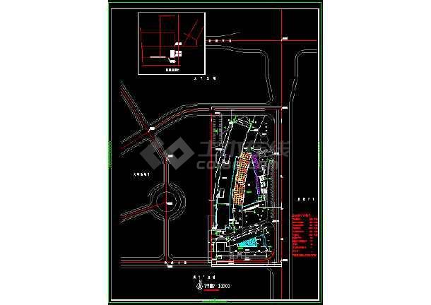 某市区大型办公式酒店CAD详细图纸-图1